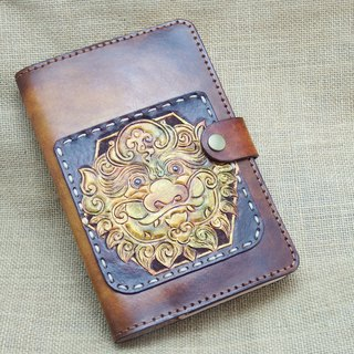 2019 Lucky Lion - Leather Notebook Pocket Book