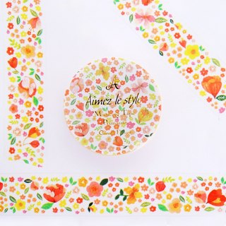 Aimez le style paper tape - occasional flowers <A04772>