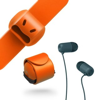 Snappy WOW - Headphone Winder - Honey Tangerine