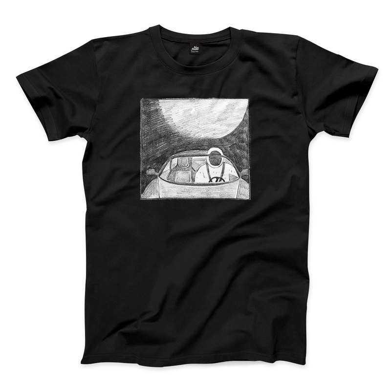 Space Dummy Listening to Music - Black - Neutral T-Shirt