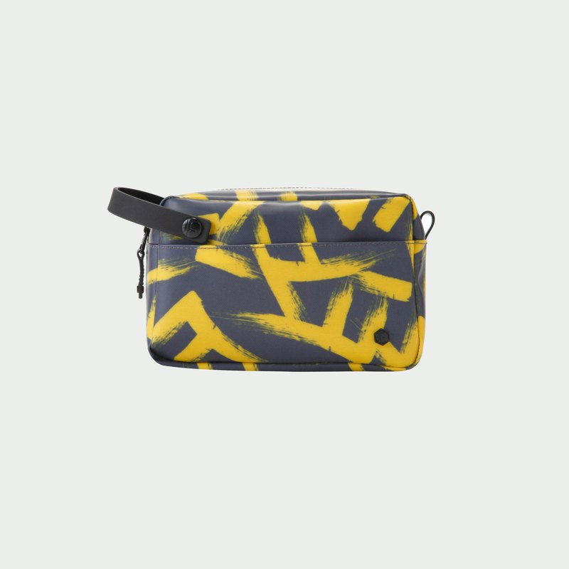 JUNGLE POUCH/FF  Yellow Calligraphy