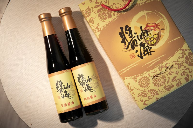 Health gift box handmade soy sauce (thin salt soy sauce x1 grease x1)