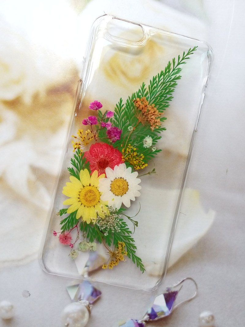 Pressed flowers phone case, Fit for iPhone 6 plus and iPhone 6S plus