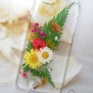 Annys workshop手作押花手機保護殼,iPhone6plus,花束