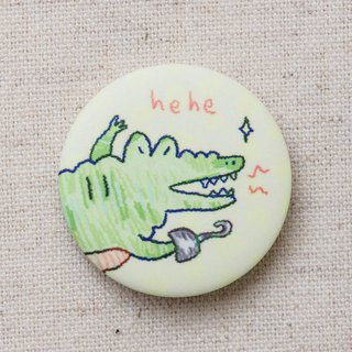 Sheep horse crocodile captain matte badge badge