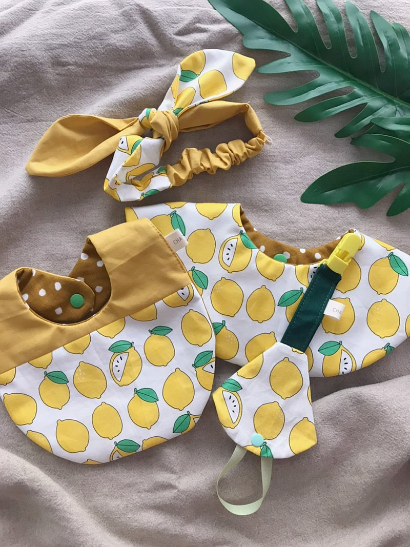 夏日檸檬香彌月禮盒     手工製4件組