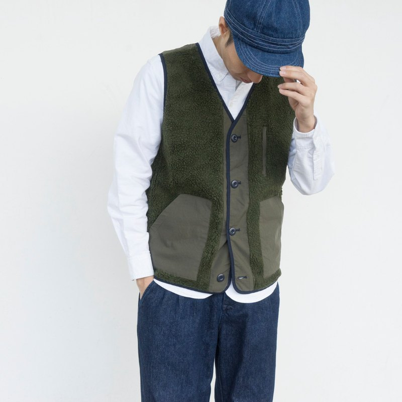 Autumn Warmth Vest Matching Faced And Fleece Double Wear Japanese In Windproof Winter rCBWdxeo
