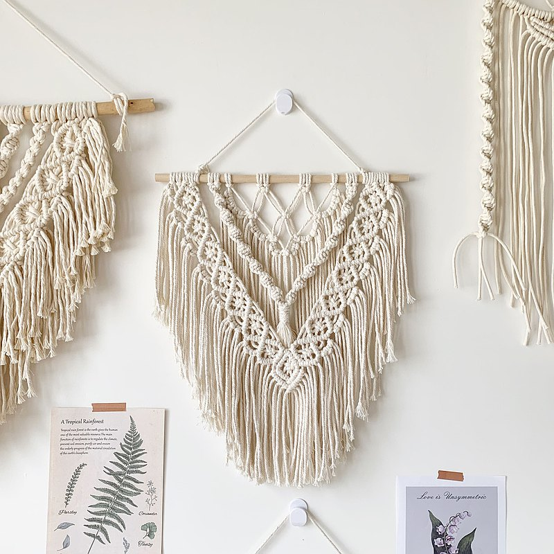 Simple 3-layer tassel ornaments