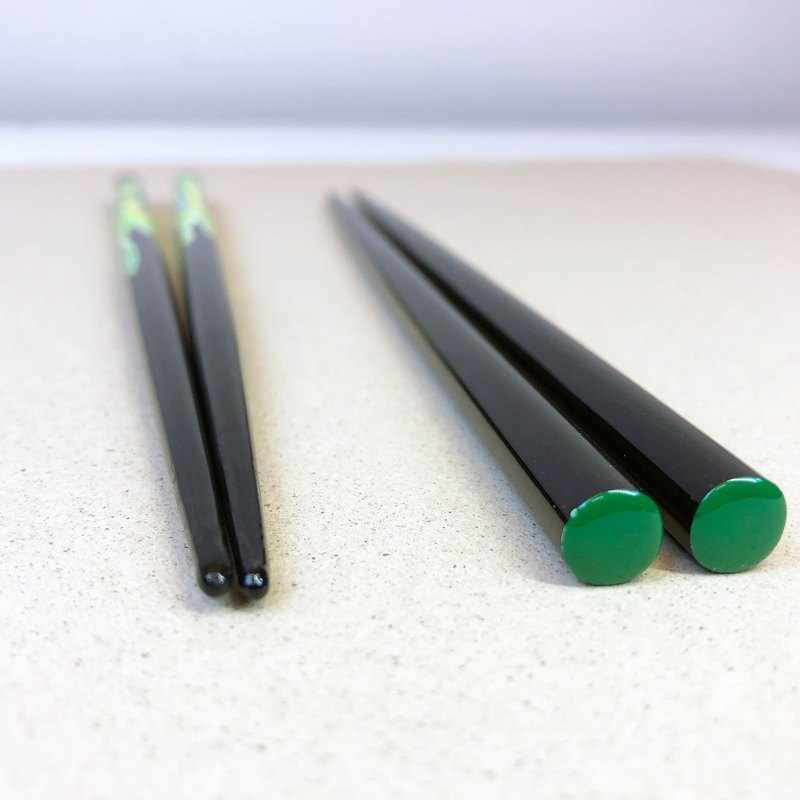 DIY lacquer chopsticks grinding experience group (yellow-green / life chopsticks)
