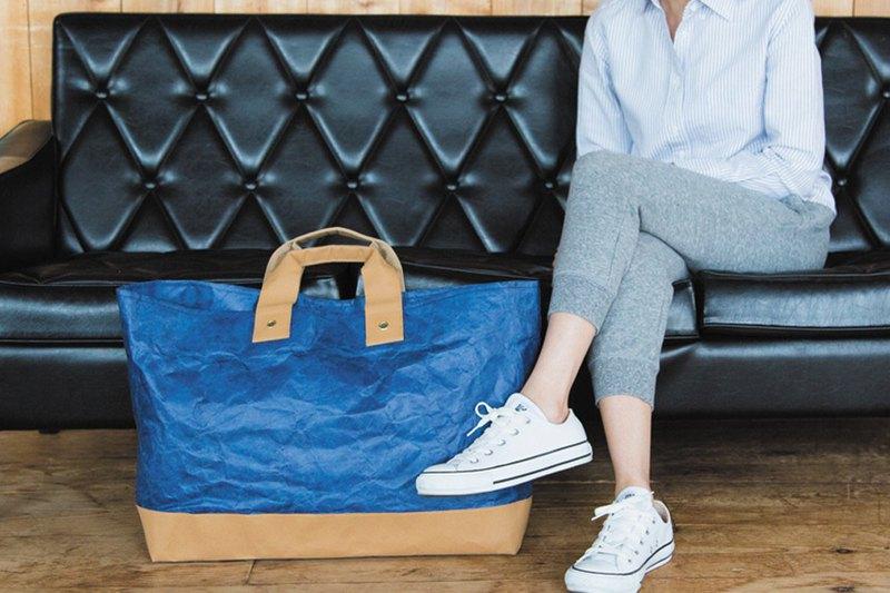 藍色托特包 - 特別版型-大容量