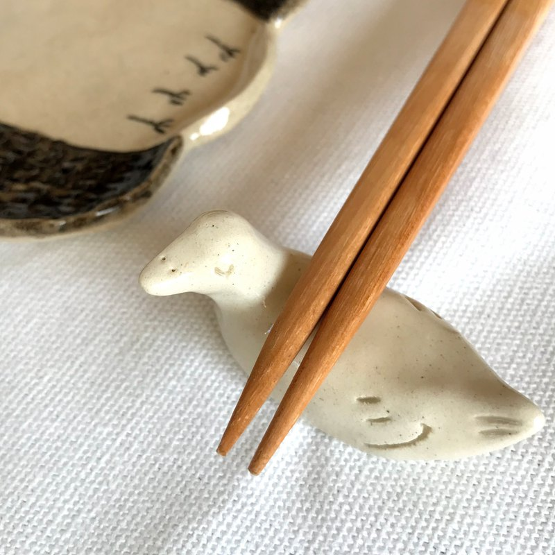 Pair Chopstick rest, swim waterfowl