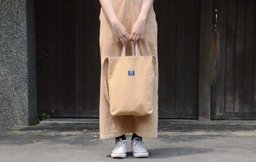 ::Bangstree:: two-colored reversible canvas bag - GoldEnrod+DarkGreen