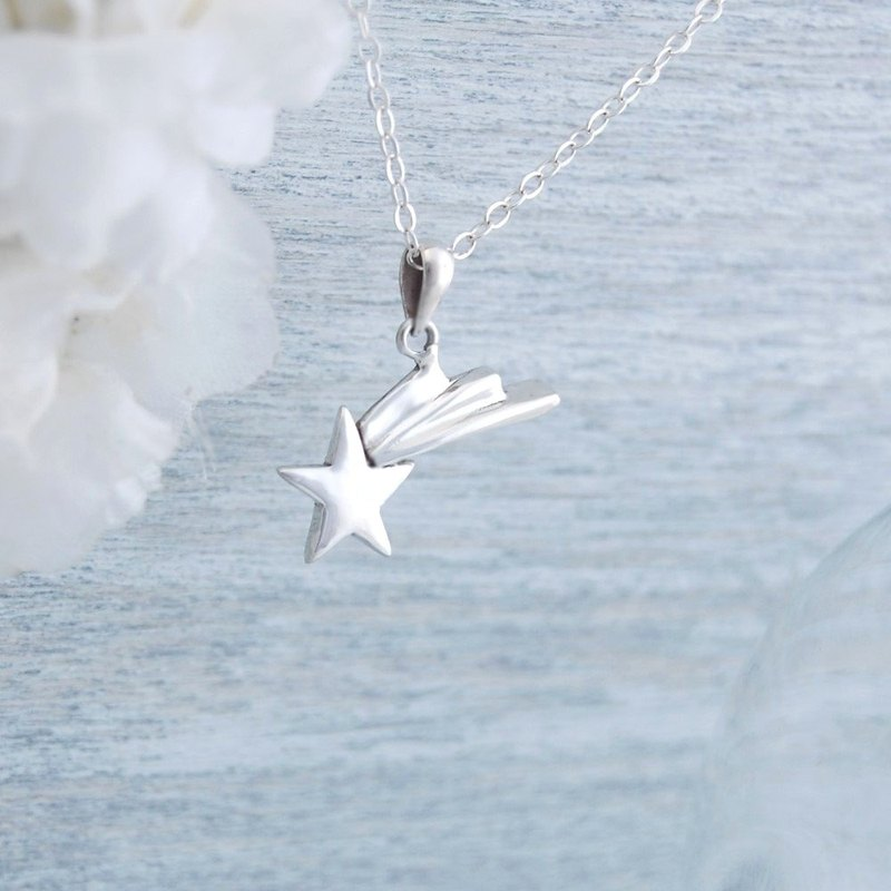 Meteor's Wish (Silver Necklace)