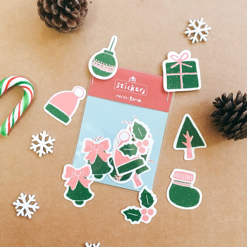 Christmas look / Christmas sticker bag / transparent sticker