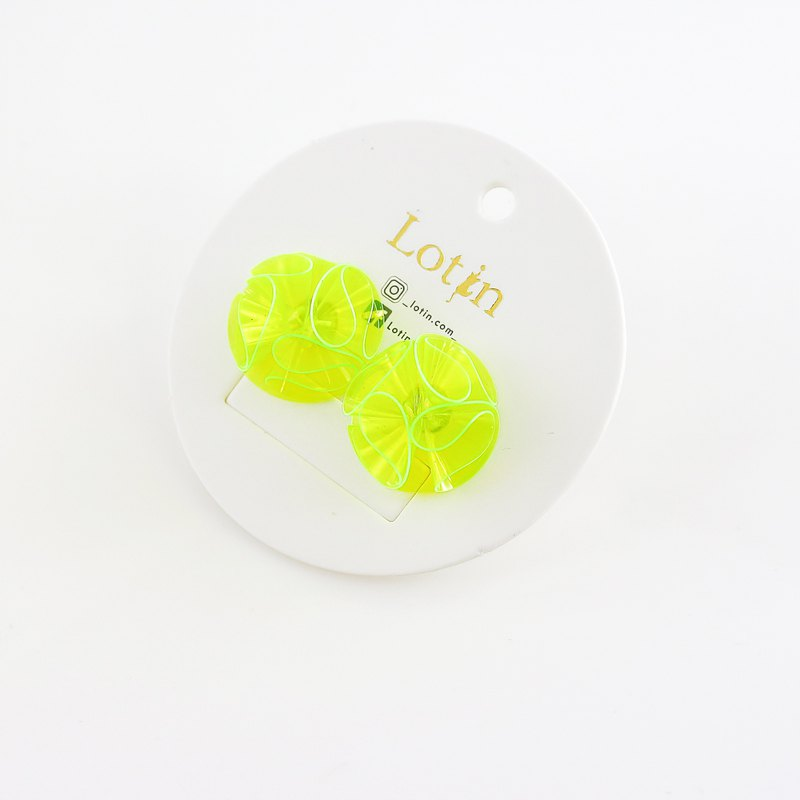 Cosmic Planet | Yellow Green Can Change Clips Ear Earrings Birthday Gifts Exclusive Design