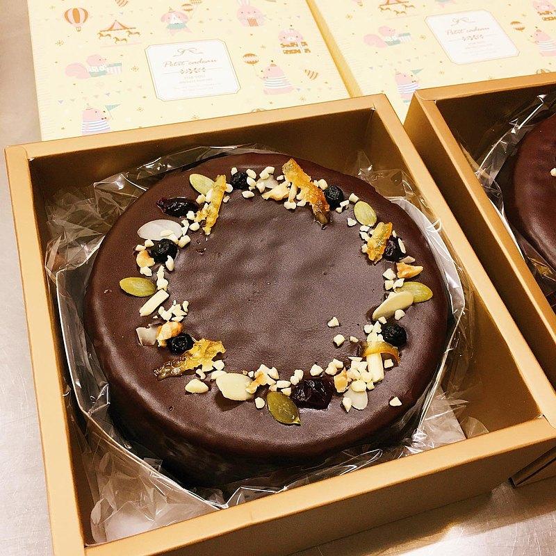 法芙娜巧克力戚風蛋糕-寶貝彌月蛋糕-6吋6入-請提早預約訂