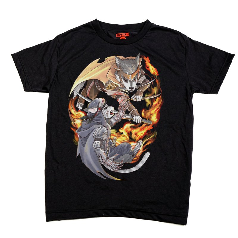 Ninja Dog VS Cat Chapter One T-shirt