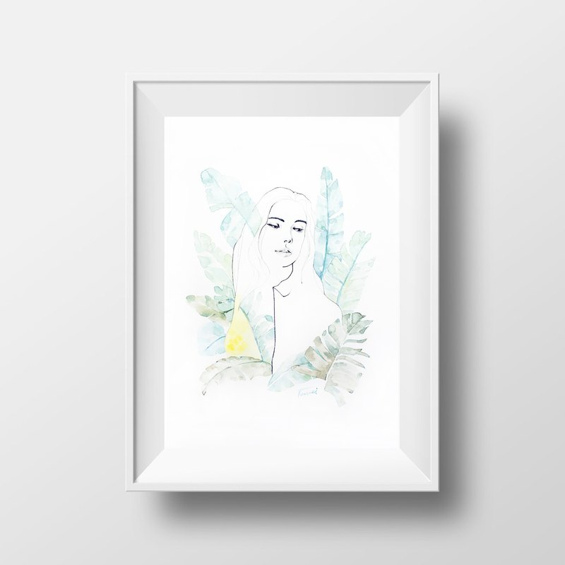 Nordic wind hand painted pencil watercolor painting NO.7 murals / home furnishings / interior design