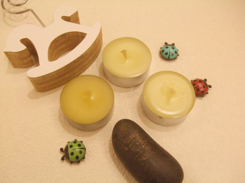 Natural beeswax essential oil candle small tea T
