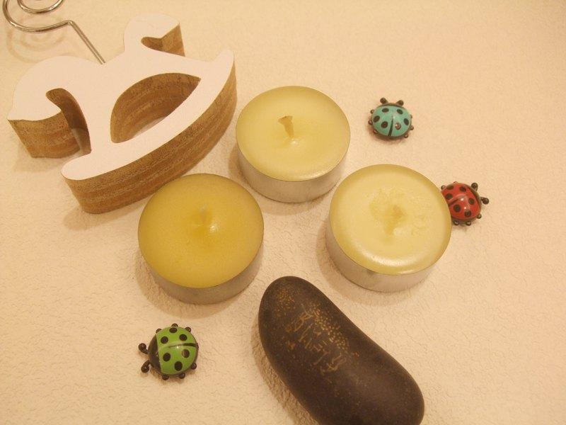 天然蜂蠟精油蠟燭 小茶T 一組
