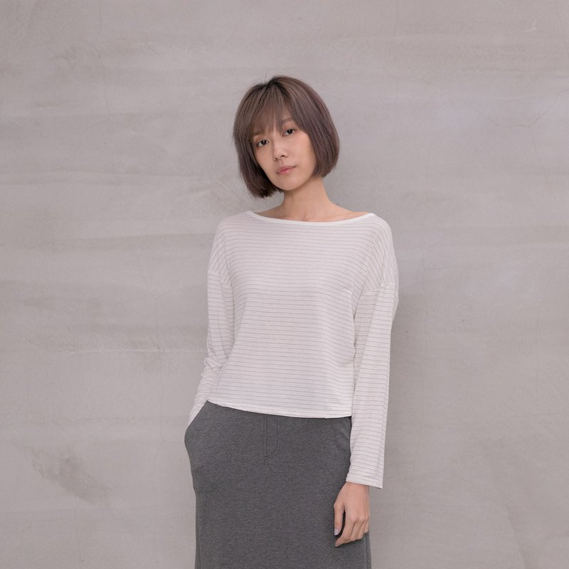 好夥伴針織上衣 My Favor Companion Boat Neck Basic Top