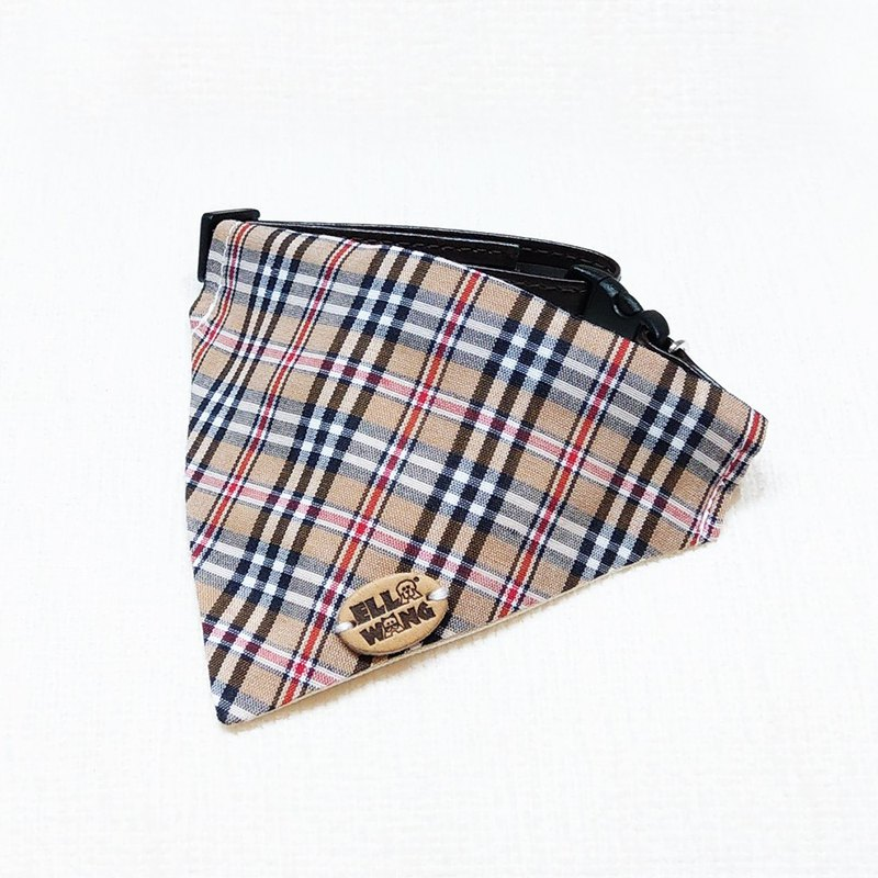 Ella Wang Design Scarf Pet Plaid Scarf Cat and Dog