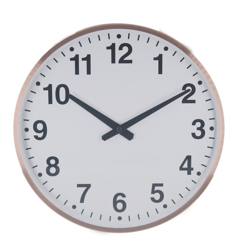 The age - Old bronze flavor wall clock (metal)