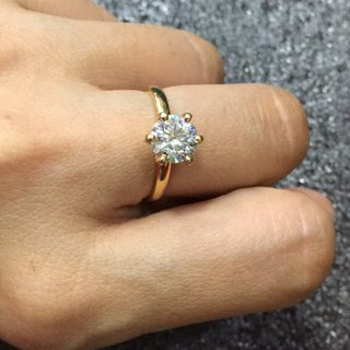 1.8 Carat Moissanite Gold Ring Handmade in Nepal 18k Gold