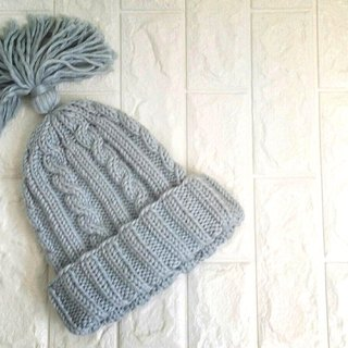 Handmade knit cold hat / wool hat