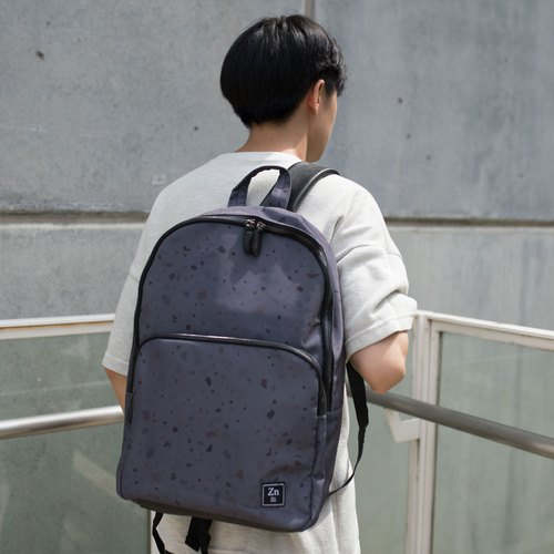 BACKPACK / ZINC - N BACKPACK / DARK GREY - MARBLE (ZN170101)