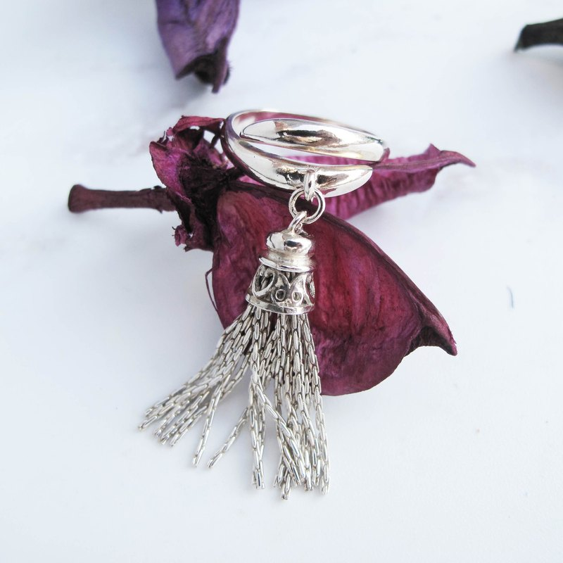 Big staff Taipa [handmade silver] tassel × sterling silver ring