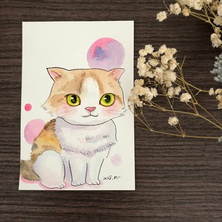 Custom Q version pet hair toddler watercolor
