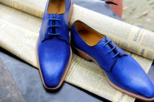 Old John Goodyear shoes handmade shoes lizard skin LE-01 Top Goodyear handmade shoes custom shoes gentleman shoes casual shoes sneakers