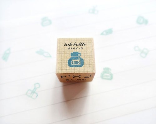 Ink Bottle Canned Pixel Stamp Stationery Series