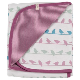 100% organic cotton purple bird baby towel towel British brand