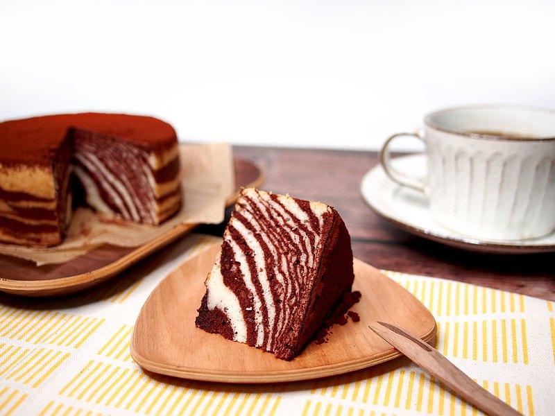 咕嚕 ゴロゴロ 雙色斑馬蛋糕 低脂 無奶油 可可 抹茶 焙茶 6吋