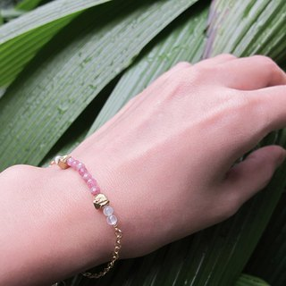 October Birthstone - Pink Tourmaline Bracelet