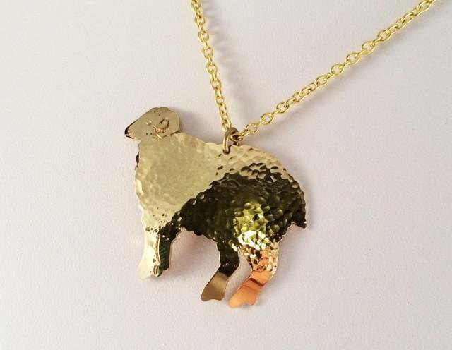 Sheep ◇ brass forging gold pendant