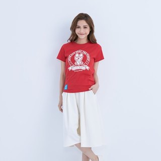 LAZYMARU-LM001561 Love can cure the world commemorative T-shirt (red)