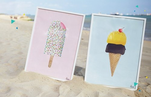 Ice Cream Poster Set