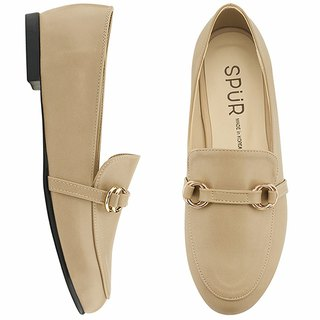 PRE-ORDER - SPUR Ring belt loafer MF9008 BEIGE