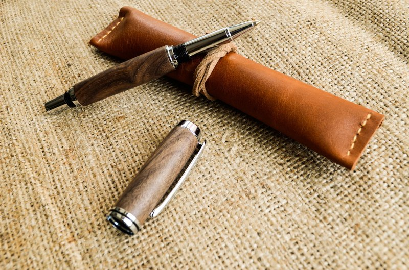 Walnut handmade ball pen │ gifts, personal use │ DIY