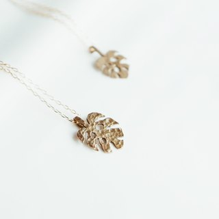 Monstera Turtle Series | Brass Necklace