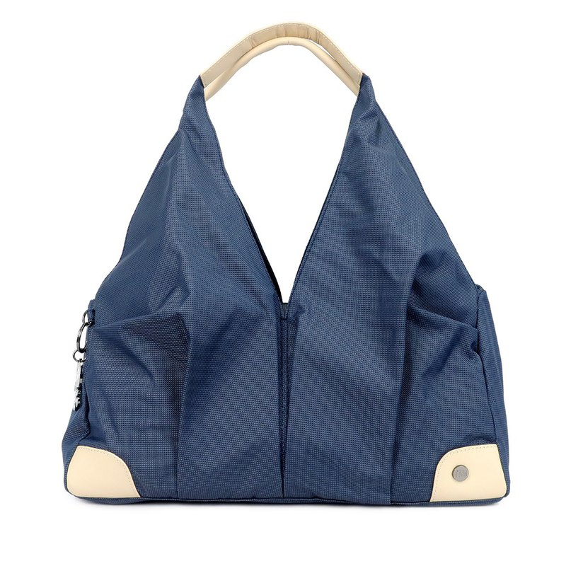 Free Shipping I AM- Short Shoulder Bag - Night Blue/Beige