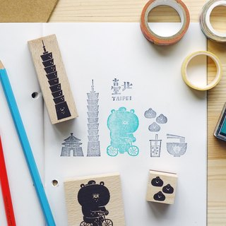 Bear travel in the city STAMP KIT - Taipei city