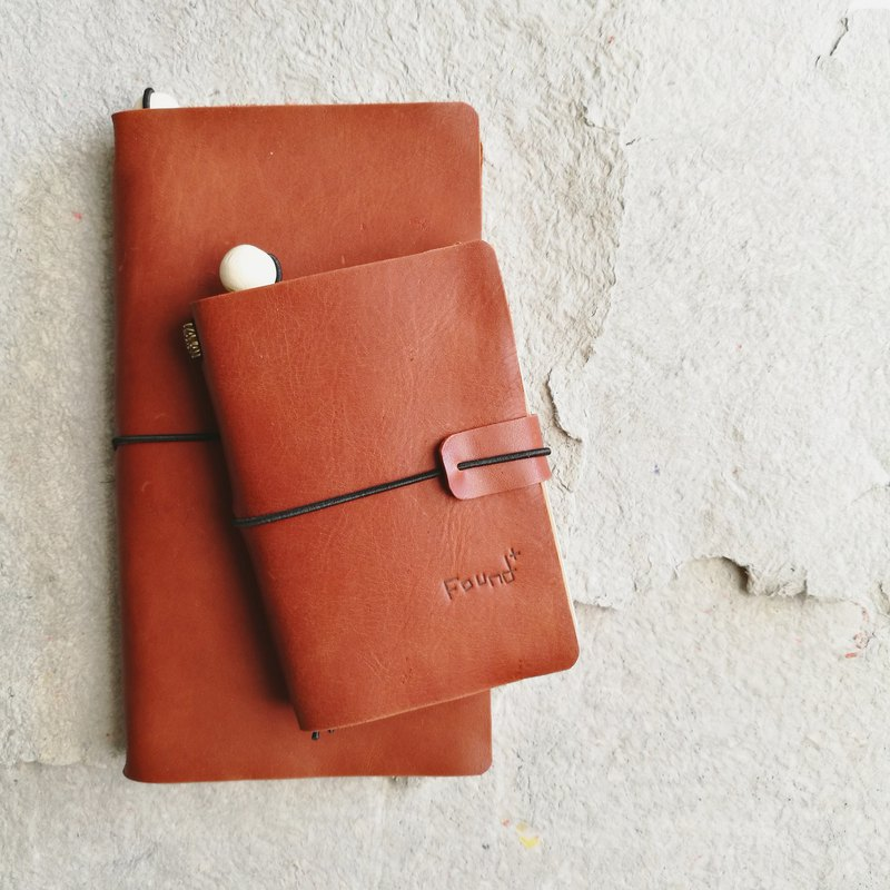 Cinnamon notebook passport size