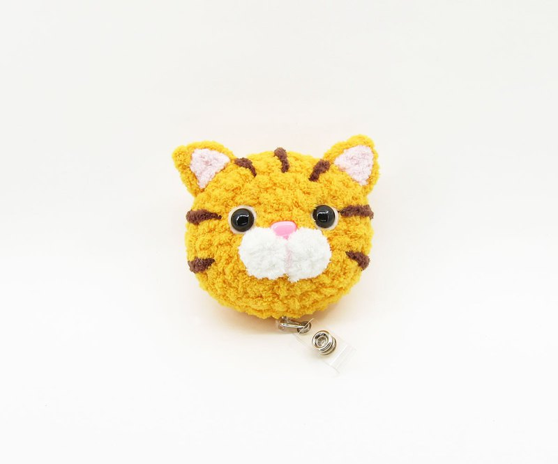 Orange Cat - Cat - Big Head Telescopic Ticket Holder - Document Folder