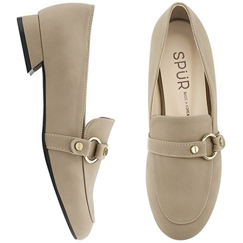 SPUR Ring belt loafer MF7015 BEIGE
