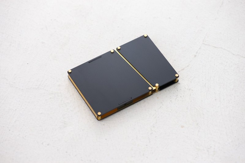 Aluminium Card Case - Black / Gold