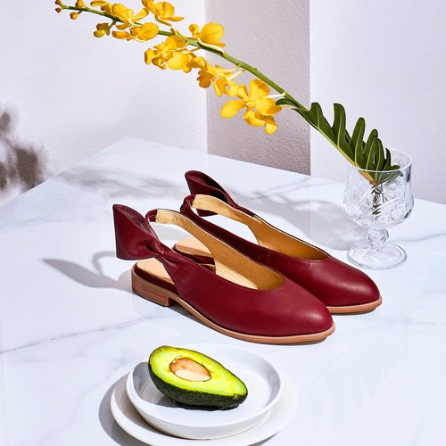 Red Burgundy-CHERRY Slingback Shoes